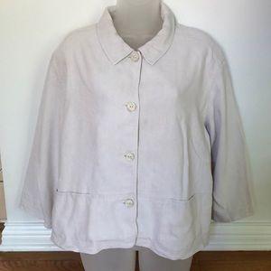 J.Jill Stylish Linen Jacket